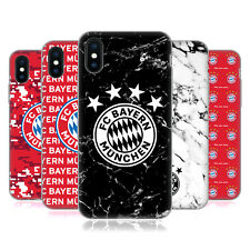 OFFICIAL FC BAYERN MUNICH 2017/18 PATTERNS SOFT GEL CASE FOR APPLE iPHONE PHONES