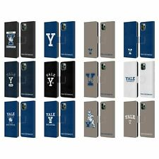 OFFICIAL YALE UNIVERSITY 2018/19 LOGOS LEATHER BOOK CASE FOR APPLE iPHONE PHONES