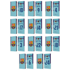 OFFICIAL FC BARCELONA 2017/18 AWAY KIT 1 LEATHER BOOK CASE FOR MOTOROLA PHONES