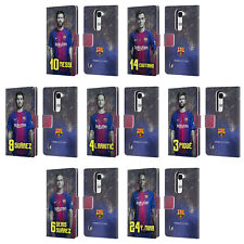 OFFICIAL FC BARCELONA 2017/18 FIRST TEAM 1 LEATHER BOOK CASE FOR LG PHONES 2