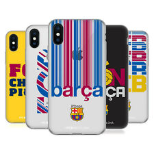 OFFICIAL FC BARCELONA 2017/18 CAMPIONS SOFT GEL CASE FOR APPLE iPHONE PHONES