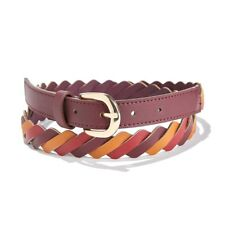 La Redoute Collections Womens Slim Multicoloured Plaited Belt