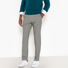 La Redoute Collections Mens Checked Slim Fit Trousers