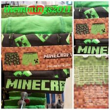MOJANG MINECRAFT  Creeper Zombie Boys Boxers Trunks  Ages 4-15 Years BNWT