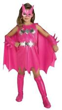 Girls Superhero Pink Batgirl Fancy Dress Costume - Deluxe