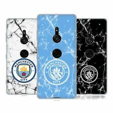 MANCHESTER CITY MAN CITY FC 2017/18 MARBLE BADGE SOFT GEL CASE FOR SONY PHONES 1