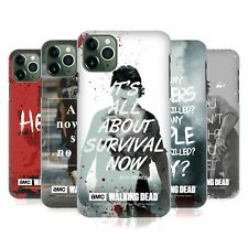 OFFICIAL AMC THE WALKING DEAD QUOTES HARD BACK CASE FOR APPLE iPHONE PHONES