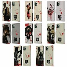 AMC THE WALKING DEAD SILHOUETTES LEATHER BOOK CASE FOR APPLE iPHONE PHONES