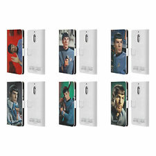 OFFICIAL STAR TREK SPOCK LEATHER BOOK WALLET CASE FOR MICROSOFT NOKIA PHONES
