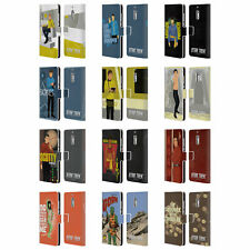 STAR TREK ICONIC CHARACTERS TOS LEATHER BOOK CASE FOR MICROSOFT NOKIA PHONES