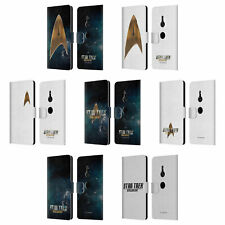 OFFICIAL STAR TREK DISCOVERY LOGO LEATHER BOOK WALLET CASE FOR SONY PHONES 1