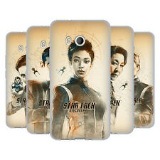 OFFICIAL STAR TREK DISCOVERY GRUNGE CHARACTERS SOFT GEL CASE FOR HTC PHONES 1