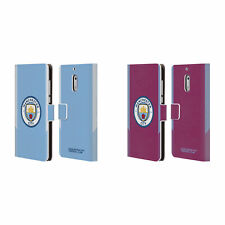 MAN CITY FC BADGE KIT 2017/18 LEATHER BOOK CASE FOR MICROSOFT NOKIA PHONES