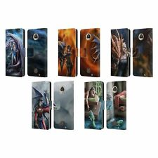 OFFICIAL ANNE STOKES DRAGON FRIENDSHIP 2 LEATHER BOOK CASE FOR MOTOROLA PHONES