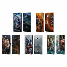 OFFICIAL ANNE STOKES DRAGON FRIENDSHIP 2 LEATHER BOOK CASE FOR HTC PHONES 1