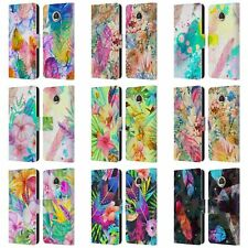 OFFICIAL HAROULITA FEATHERS LEATHER BOOK WALLET CASE COVER FOR MOTOROLA PHONES