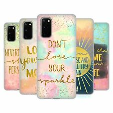 HEAD CASE DESIGNS GOLD QUOTES SOFT GEL CASE FOR SAMSUNG PHONES 1