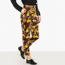 La Redoute Collections Womens High Waist Printed Velvet Trousers