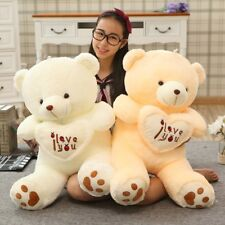 1pc Big I Love You Teddy Bear Large Stuffed Plush Toy Holding LOVE Heart Soft