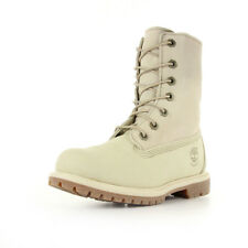 Bottes Timberland femme Authentics Teddy Fleece Winter White taille Beige Cuir