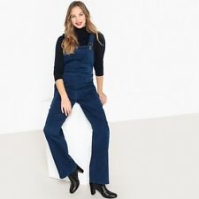 La Redoute Collections Womens Wide Leg Denim Dungarees
