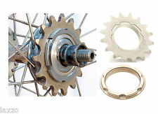 Miche Fixed Track Sprocket Steel Silver Lockring + Carrier Road Bicycle Bike