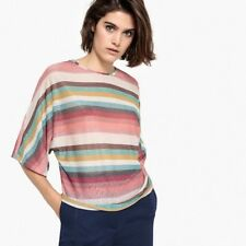 La Redoute Collections Womens Sparkly Striped Batwing Tshirt