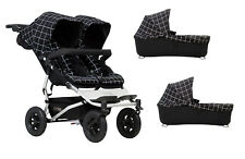 Pack Gemelar Mountain Buggy Duet 3.0 Basico con 2 Capazos Plus