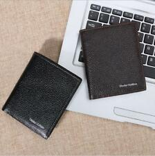 New Men's Genuine Leather Bifold ID Credit Card Money Holder Wallet Black Brown