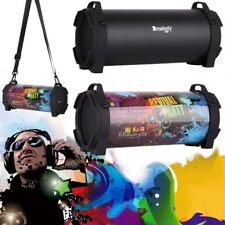 Portable Wireless Bluetooth Speaker Boombox Bass Stereo Cylinder SD FM Radio PC