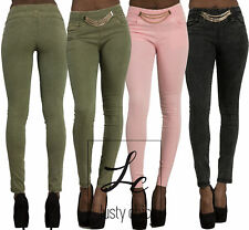 Womens Skinny Jeans Stretchy Jeggings Ladies Slim Fit Coloured Trousers