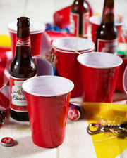 Amercian 16oz Plastic Red Party Cups Glasses (Beer Pong) - Disposable 50/100/500