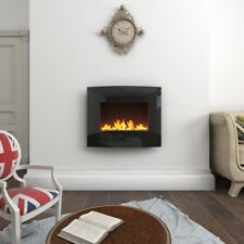 Wall Mounted Electric Fireplace Glass Heater Fire  Electric Heater 2 Level CE