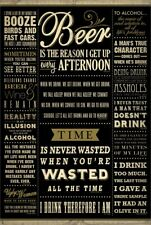 Drinking Quotes Poster 61x91.5cm