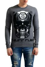 Philipp Plein Homme Limited Edition 100% Wool Men s Gray Sweater Size s M L  XL aee7afad2e