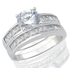 New Fashion Brilliant Cut Birthstone Wedding Sterling Silver Clear Baguette Cz Fashion Ring Jewelry & Watches