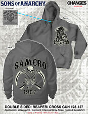 Raro Sons Of Anarchy Soa Samcro Cruzado Guns Gris Carbón Hoz Segador