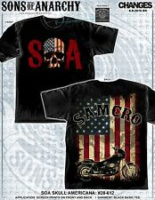 Sons Of Anarchy Soa Calavera Americana Segador Samcro Eua Motero Tv Camisa