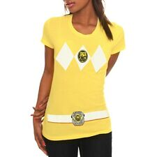 Power Ranger Amarillo Película Show Mighty Morphin Disfraz Júnior Camiseta