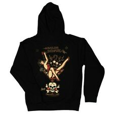 Sailor Jerry Rum Martini Ragazza Tattoo Norman Uomo con Zip Felpa Cappuccio