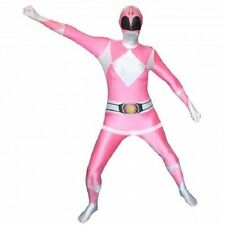 Morphsuit Rosa Power Rangers Body Piel Halloween Disfraz Adulto 78-0320
