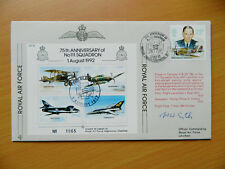 RAF JSF Joint Services Fighter Series FDC's Signed Battle Of Britain Veterans