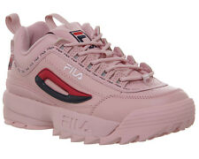 Womens Fila Disruptor II Trainers PINK SHADOW FILA NAVY RED Trainers Shoes