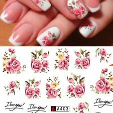 Fashion Rose Flower Nail Art Water Transfer Stickers Decals Tip Decoration DIY