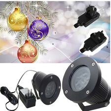 Christmas Projector Light Moving Snowflake LED Laser Landscape Outdoor Xmas Lamp