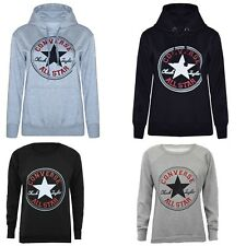 Ladies Converse Print Hoodies Sweatshirts Graphic Warm Winter Plus Size