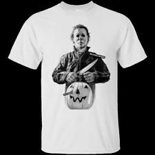 White T-shirt Michael Myers Halloween Horror Movie Short Sleeve S-3XL