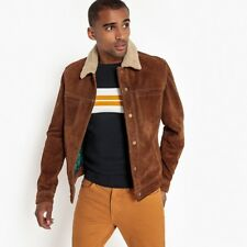La Redoute Collections Man Leather Jacket With Press Studs