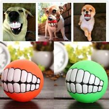 Funny Pets Dog Puppy Cat Ball Teeth Toy PVC Chew Sound Dogs Play Fetching