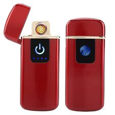 Fingerprint Touch USB Rechargeable Flameless Electric Windproof Lighter Durable